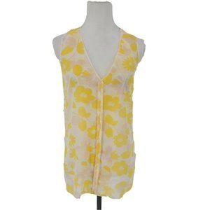 Cabi Front Porch Top #5726 Yellow Sleeveless Med
